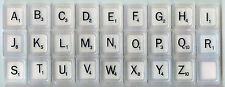 SCRABBLE TILES - Michael Graves Edition Black Letters on White sold individually