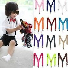 Cute Baby Boys Girls Clip-on Suspender Y-Back Child Elastic Suspender 12Colors