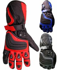 Posh Biker Leather Professional Cowhide Motorcycle Gloves Motorbike Collection