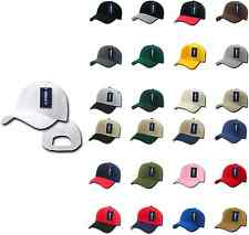 1 Dozen DECKY Deluxe Polo Blank Baseball Hats Hat Caps Cap Velcro Wholesale Lot