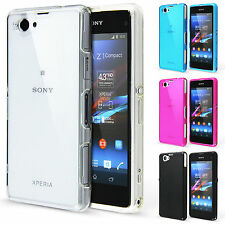 Crystal Clear Silicone Case + Screen Protector for Sony Xperia Z1 Compact Cover