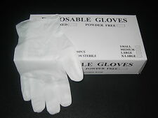 (100) Vinyl Disposable Gloves Powder Free (Non Latex Nitrile Exam) All Sizes