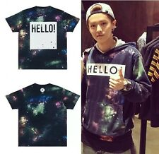 """Kpop EXO Greeting Party In Japan """"Hello"""" Starry Sky T-Shirt Hot Sale Tee New"""