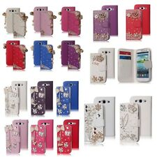 For Samsung Galaxy S3 i9300 Bling Diamond Wallet Stand Leather Wallet Case