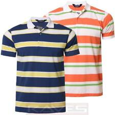 Mens Striped Polo Shirt T-shirt Kensington Short Sleeved Summer 1X 4737