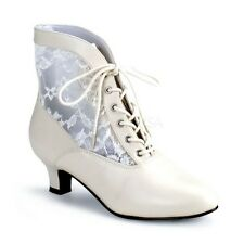 """FUNTASMA 2"""" HEEL LACE VICTORIAN WESTERN GRANNY VINTAGE ANKLE BOOT WOMEN'S SHOES"""