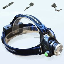Zoomable Cree XML T6 Led Headlight Headlamp 2200lm 3 modes Light + US/EU charger