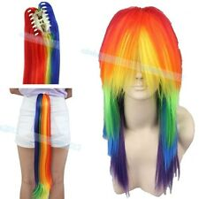 Anime My Little Pony Rainbow Cosplay Dash Multi Color Heat Resistant Tail Wig