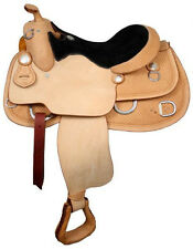 """16 or 17"""" Premium Western Training Saddle w/ Rough out. Horse Tack"""