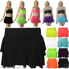 New Women Mini Short Rara Skirt Dance Party Neon UV Club Wear Size 8-16