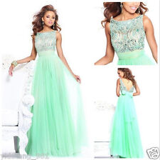 Hot Long Green Prom Dresses High Collar Beaded Party/Evening/Formal Gowns Custom
