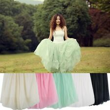 Women Ladies Princes Fairy Style 5 layered Tulle Dress Bouffant Skirt 5color