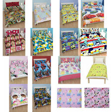 CHILDRENS FAB RANGE OF 100% OFFICIAL TV CHARACTER DOUBLE BED DUVET COVER SETS