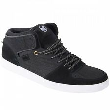 DVS Footwear Mens Torey Pudwill VPR Pro Mid Top Skate Shoes Black Suede Trainers