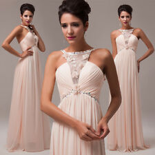 Princess Backless Long Bridesmaid Quinceanera Evening Party Wedding Prom Dress