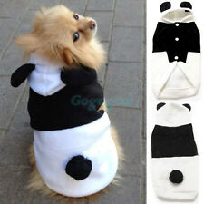 Pet Dog Winter Warm Panda Clothes Puppy Hoodie Coat Doggy Cat Outfit Fancy Dress