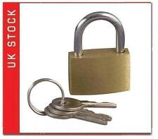 20MM BRASS PADLOCKS SUITCASES TRAVEL HAND LUGGAGE GYM SMALL ORDER BAG SECURE