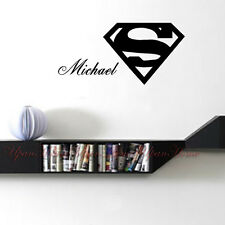 Personalized Customized Boy Name Superman Logo Home Wall Stickers Decal Decor