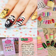 3D Colorful DIY Nail Art Tips Stickers Decal Wraps Acrylic Manicure Decorations!
