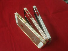 Aluminum Metal Bumper BLING Case Crystal Rhinestone Diamond FOR APPLE IPHONE 5