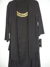 TIANA B PLUS dress with attached jacket~ beaded embellished neckline~Travel