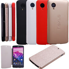 Official Google Flip Leather Hard Skin Cover Case For LG Nexus 5 D820 821 NEW