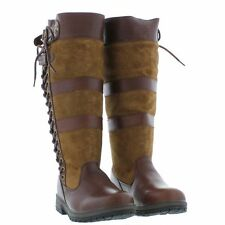 Kanyon Premium Long Country Brown Walking/Riding Lace Up Waterproof Boots