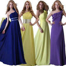 4 Styles One Shoulder Evening Formal Party Ball Gown Prom Bridesmaid Long Dress