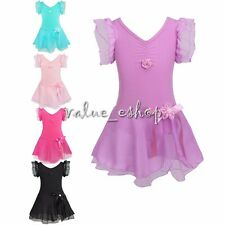 Girl Kid Xmas Gymnastics Ballet Dance Dress Leotard Tutu Skirt Dancewear Costume