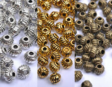 Wholesale 100pcs Tibetan Silver, Gold, Bronze, Charms Spacer Beads 5X4MM B276