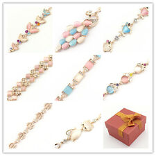 Fashion Jewelry Multielement Gold Chain Crystal Handmade Bangle  Love Bracelet