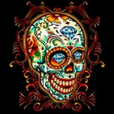 SUGAR SKULL DIAMONDS DAY OF THE DEAD FLORAL SKULL ROSES T Shirt M TO 6XL