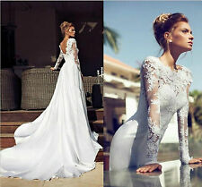2014 New Sexy Wedding Dress Bridal Gown Lace Custom Size2-4-6-8-10-12-14-16-18+