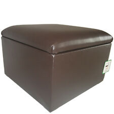 Large Faux Leather Storage Box / Pouffe / Footstool available in many colours