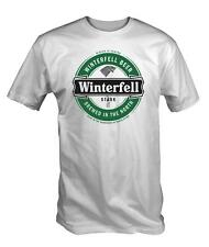 Winterfell Beer T Shirt Stark of Thrones Game lannister funny white TV cool