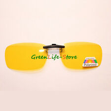 Clip Polarized on wear over sunglasses eyeglass spectacle lens anti-glare Yellow