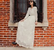 2014 spring/summer star favorite Modern Vintage embroidery sexy lace knee dress