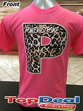 Powerstroke T shirt HOT PINK all sizes Ford Truck S-2XL  Diesel FRONT & BACK