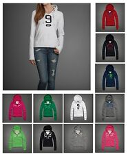 New Abercrombie by Hollister Women LAURA Mallor HOODIE Pull Over Zip Sweat Shirt