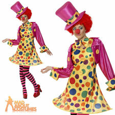 Clown Lady Fancy Dress Costume Ladies Womens Female Circus Outfit Size 8 - 22