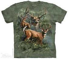 Deer Collage T-Shirt by The Mountain. Buck Doe Forest Animals Sizes S-5XL NEW