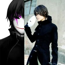 Anime DARKER THAN BLACK Hei Black Long Coat Cosplay Animation Party Costume