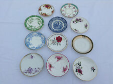 Vintage Bone China Saucers Mismatch For Tea Cups Wedding Parties Replacements VG