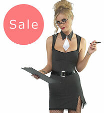Sexy SAUCY SECRETARY Fancydress Roleplay Costume S M L XL 8/16 HEN OFFICE BLONDE