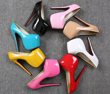 Lady Model Shoes 18cm Extreme High Heels with 8cm Platform Pumps Full Big Sizes