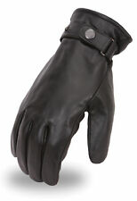 Men's Military Style Leather Motorcycle Riding Gloves w/ Thermal Liner FI115GL
