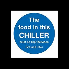 Food in Chiller must be kept... Sign, Sticker - All Sizes & Materials - (FP99)