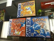 (NO GAME) Custom GAMEBOY GBC Archival Case New Box * POKEMON RED BLUE YELLOW