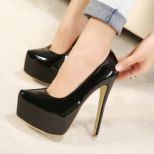 Lady Model Classics Shoes 15cm Extreme High Heels Pumps with 5cm Platform US4-11