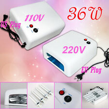 Pro. 36W US 110V EU 220V Nail Art UV Lamp Salon Gel Curing Tube Light Dryer